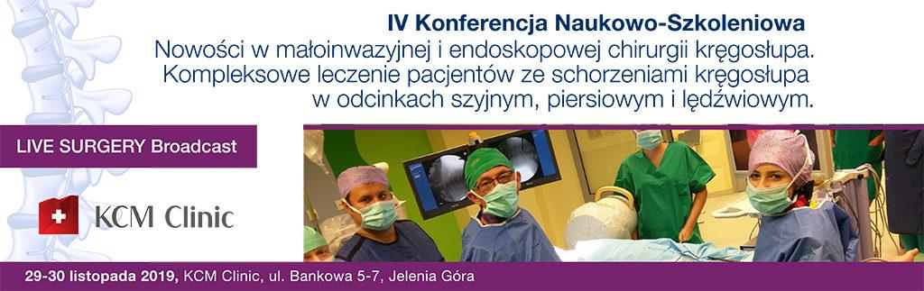 Konferencja Naukowo-Szkoleniowa z zakresu kompleksowego leczenia  leczenia pacjentów ze schorzeniami kręgosłupa w odcinkach: szyjnym, piersiowym i lędźwiowym.